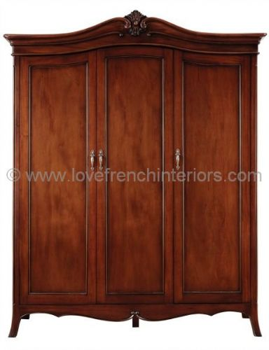 Paris Mahogany Triple Wardrobe